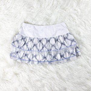 LUCKY IN LOVE White Pleated Tennis Skirt XS Snake
